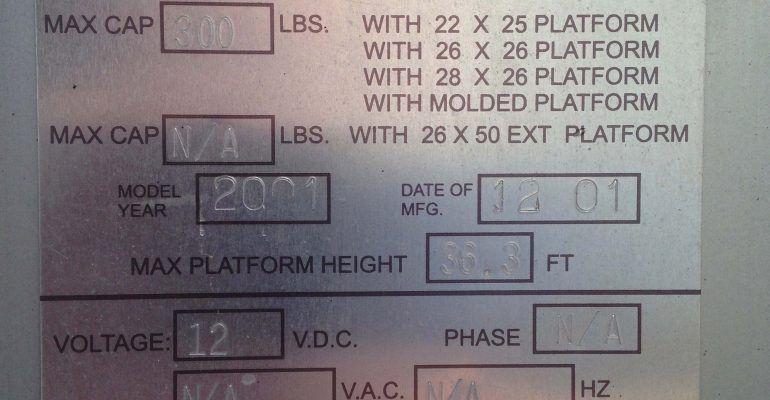 Used JLG 36AM Electric Man Lift