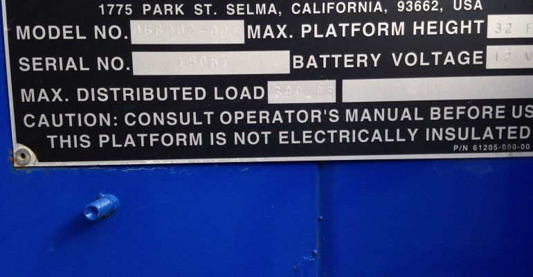 Used Up-Right UL-32 Electric Man Lift