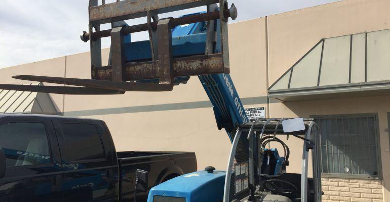 Genie GTH-5519 Reach Forklift, 4×4