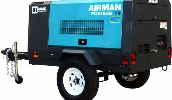 2019 MMD Airman PDS185S Air Compressor Tier 4