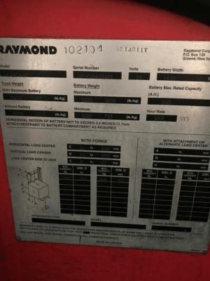 2004 Raymond EASI R40TT Stand-Up Forklift
